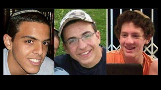 Die drei getöteten israelischen Jugendlichen