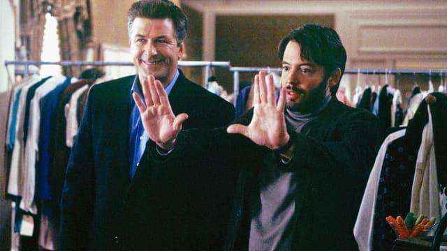 Alec Baldwin als Joe Devine, Matthew Broderick als Steven Schats.