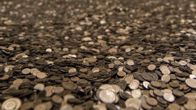 Viele glänzende Münzen