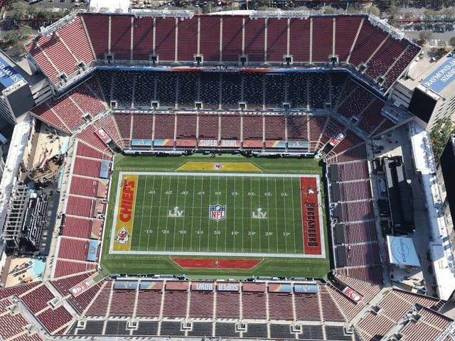 Luftaufnahme des Stadions