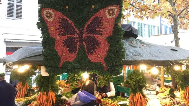 Schmetterling aus Rüebli