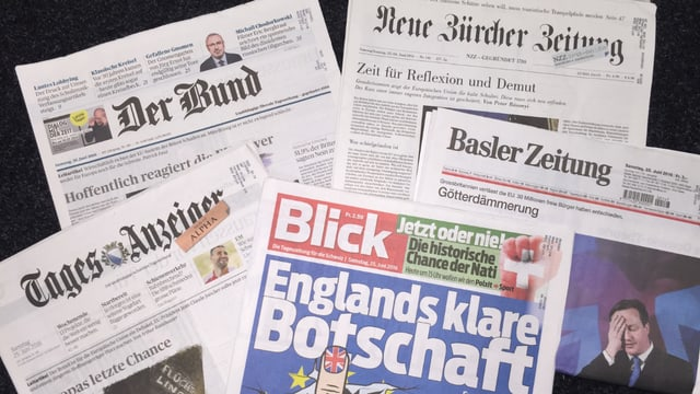 Die Schweizer Zeitungen nach dem Brexit.