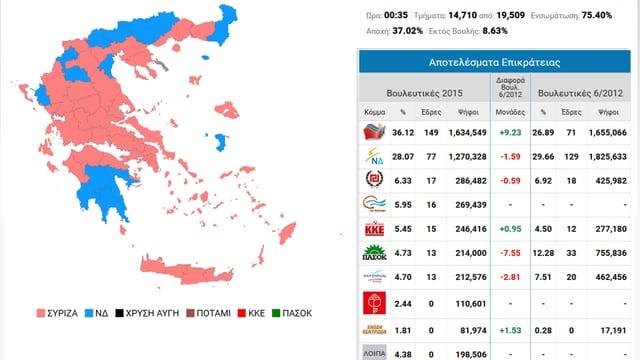 Karte Griechenlands