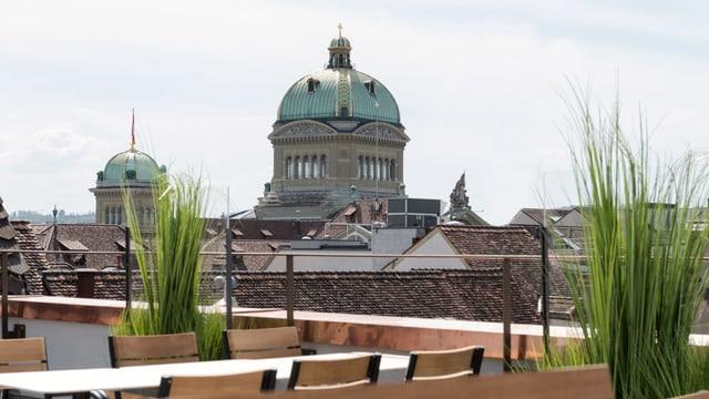 Manor bietet auf fünf Etagen ein Non-Food-Angebot sowie ein Restaurant mit Dachterrasse und Blick aufs Bundeshaus.