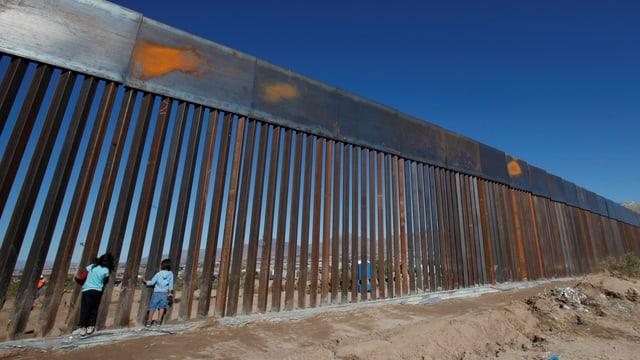 Zaun zwischen Mexiko und USA.