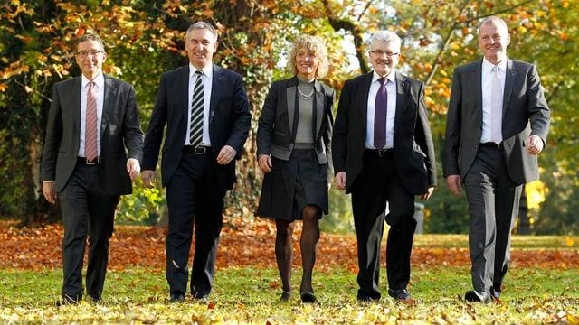 Gruppenbild des aktuellen Aargauer Regierungsrates