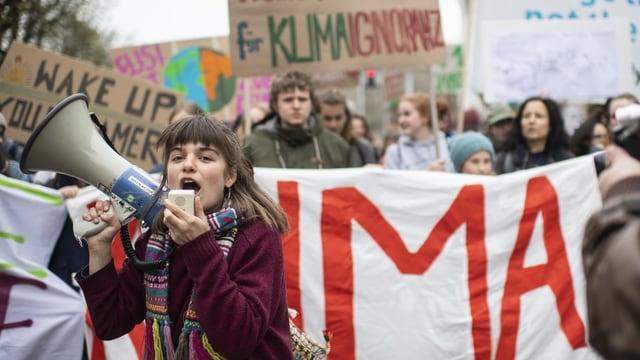 Klima-Demonstranten in Zürich