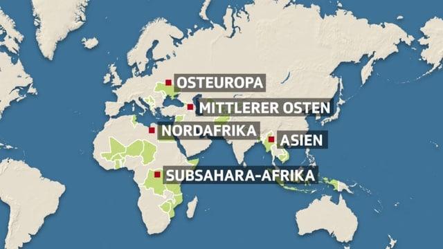 Grafik mit Karte von Europa und Afrika, am Rand ist noch Südamerika zu sehen.