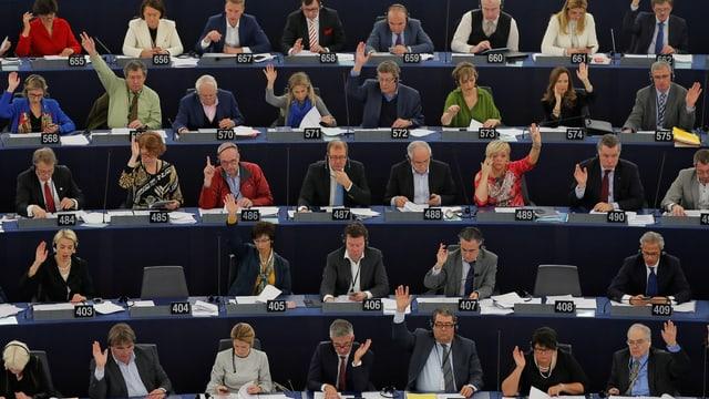 Mitglieder des Europäischen Parlaments in Strassburg.