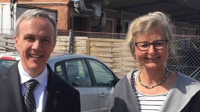 Cla Famos (FDP) und Barbara Thalmann (SP) - kurz vorgestellt