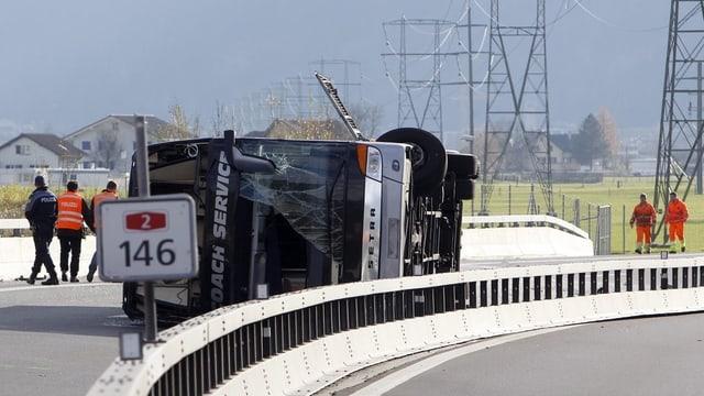 Bei diesem Unfall im November verlor der Tourbuschauffeur einer Jazzband das Leben.