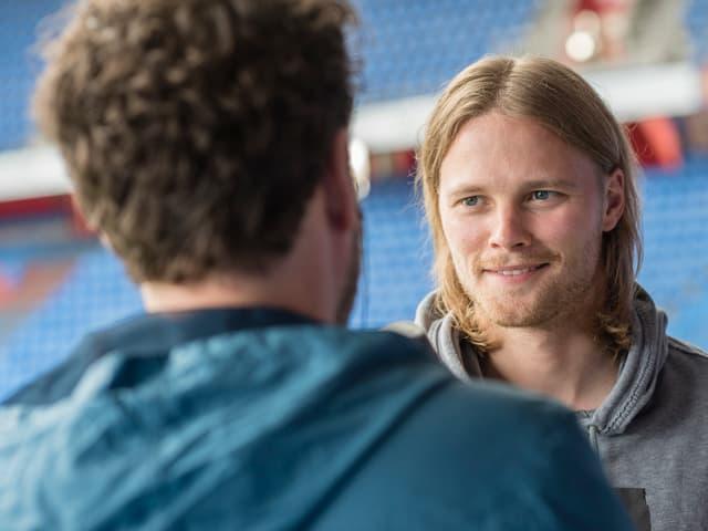 Birkir Bjarnason: Der Isländer lebt seit einem Jahr in der Schweiz. Die Sprache beherrscht er erst bruchstückhaft.