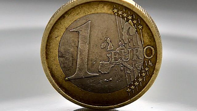 Aufnahme einer Euro-Münze.