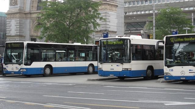 Blau-weisse Busse