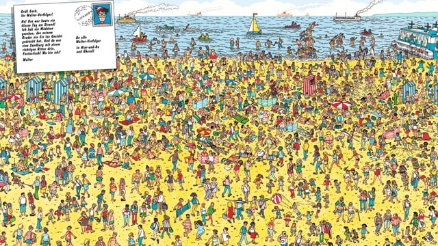 Wo ist Walter, Wimmelbild