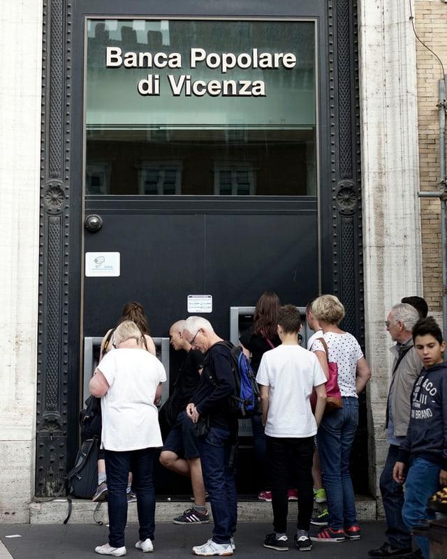 Fassade der Banca Popolare di Vicenza.