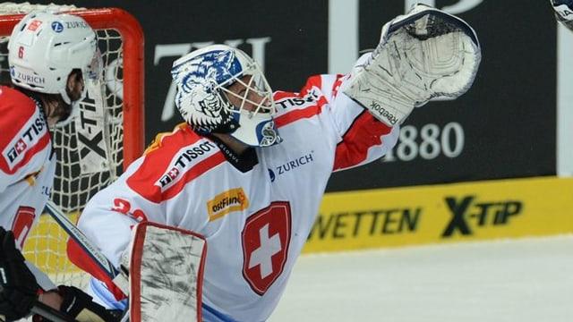 Sandro Zurkirchen bei seinem ersten Nati-Einsatz gegen die Slowakei.