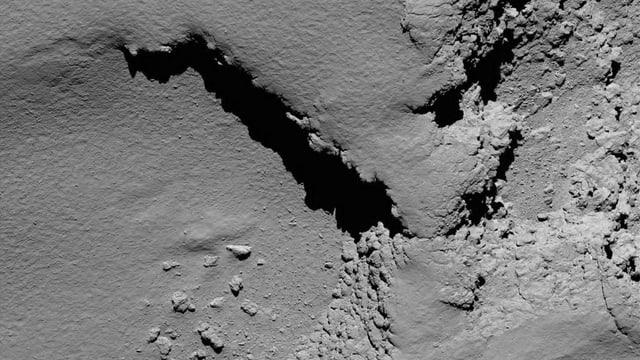 Ina fotografia dal comet Tschuri