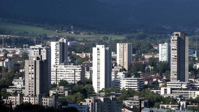 Blick auf die Stadt Chur.