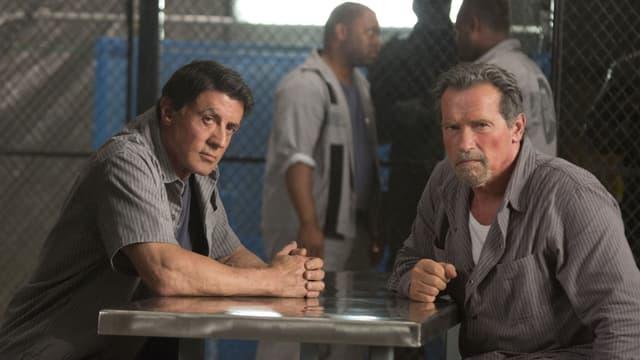 Sylvester Stallone und Arnold Schwarzenegger im neuen Gefängnis-Action-Movie: «Escape Plan».