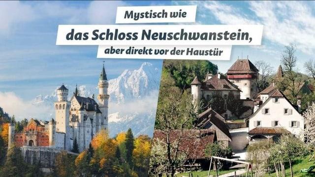 Plakat mit Burgen