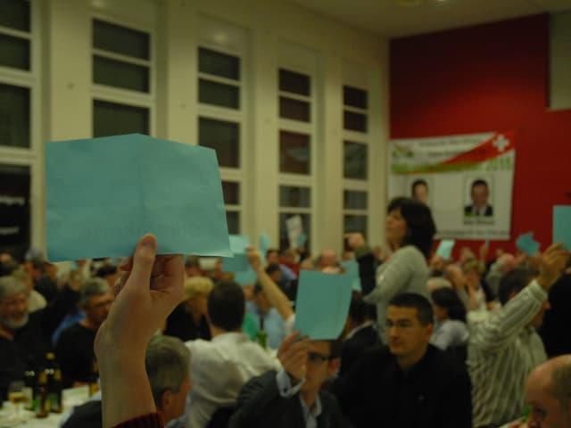 Abstimmung an der Delegiertenversammlung