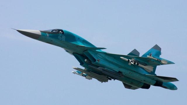Russischer Kampfjet vom Typ SU-34.