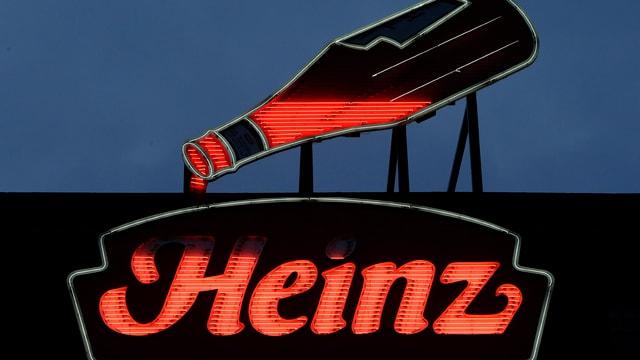 Werbung von Heinz auf einem Dach