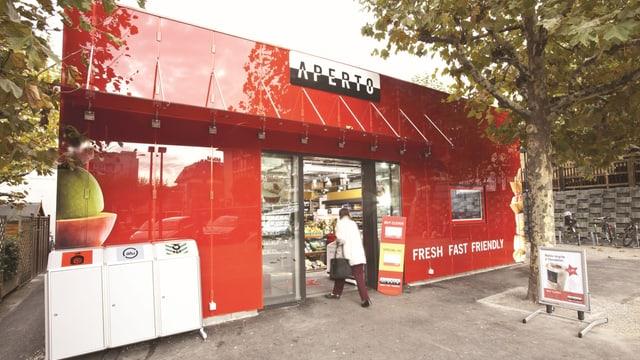 Einer der Apérto-Läden, ein Geschäftszweig der Villars-Holding SA.