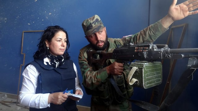 Schuldà vid declerar la situaziun ad in schurnalista en l'Irac.