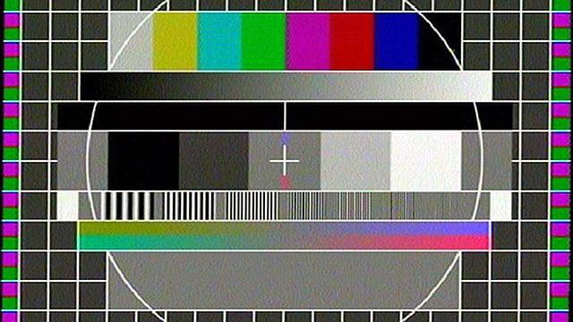 Das Testbild eines Fernsehkanals.