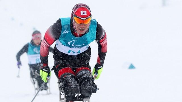 Atlets durant ils Paralympics a Pyongchang.