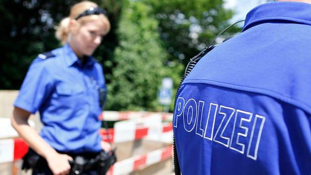Solothurner Kantonspolizisten im Einsatz.