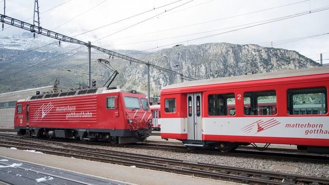 Matterhorn-Gotthard-Bahn in Andermatt