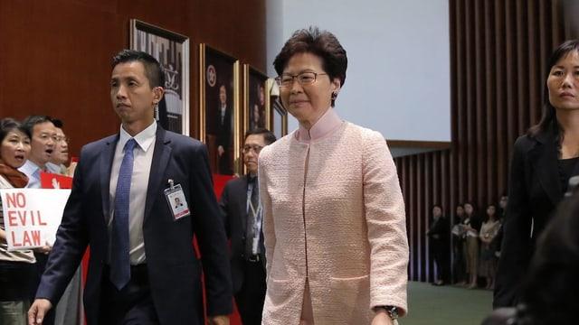 Carrie Lam ist die Regierungschefin Hongkongs
