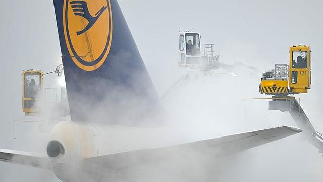Zu sehen ein Flugzeuge der Lufthansa