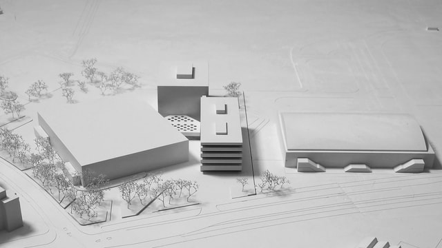 Architekturmodell des Sportzentrums «WinCity»