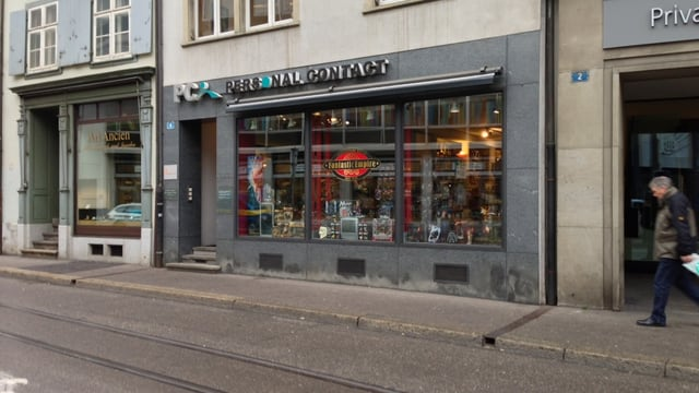 Spielwaren-Laden in der Elisabethenstrasse