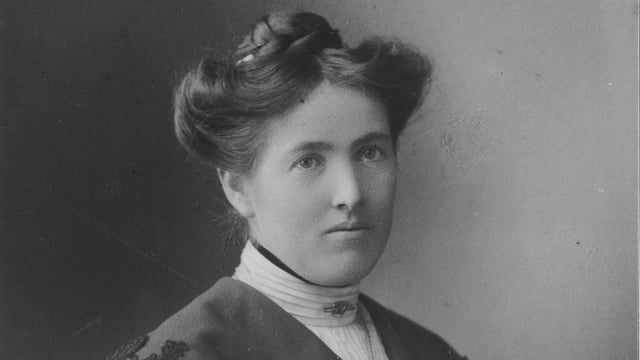 Else Züblin-Spiller auf einer alten schwarzweiss-Fotografie.