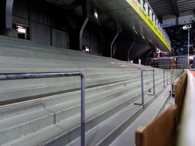 Das leere Stadion in Genf
