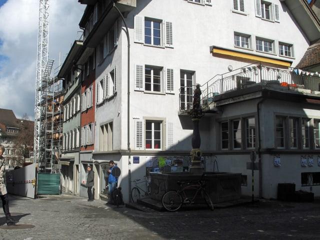 Eine Häuserreihe