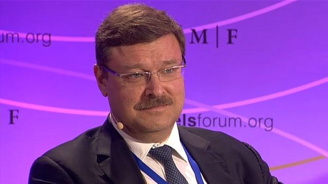 Konstantin Kosachev am Brussel's Forum des German Marshall Fund.