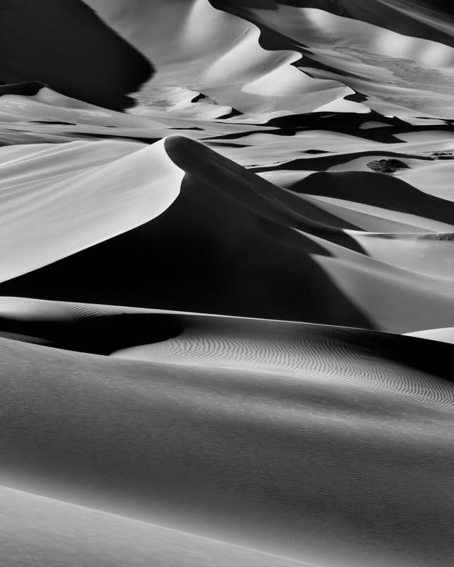 Sanddünen in Algerien.