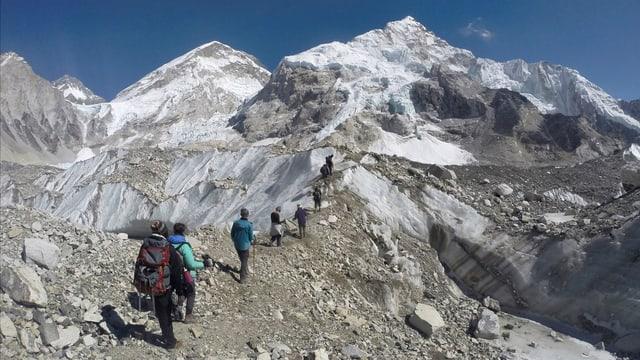 Wanderer im Mount-Everest-Gebiet