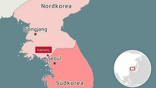 Das gesprengte Verbindungsbüro befand sich in Kaesong