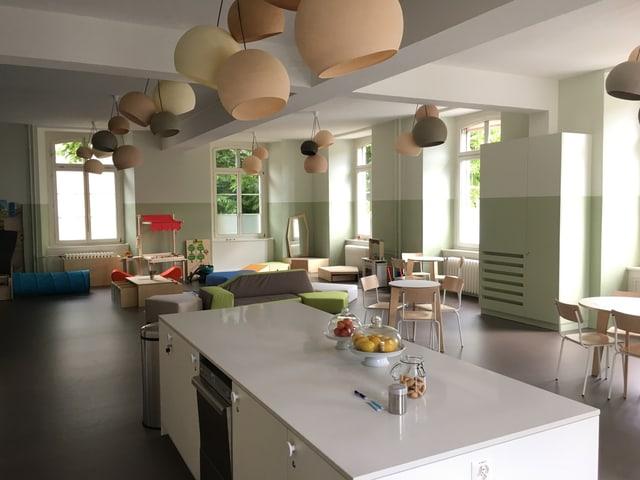 Eine helle Küche