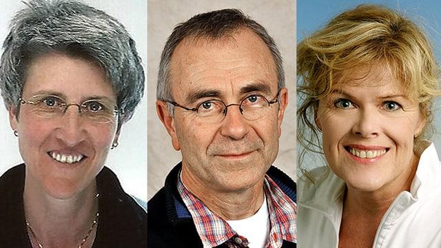 Dr. Dede Bauschatz, Dr. Christian Holm und Dr. Doris Keller