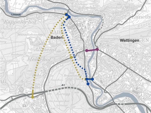 Karte von Baden.