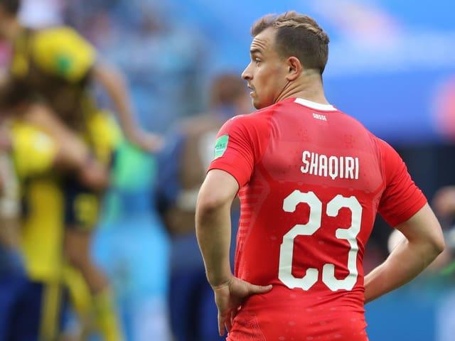 Xherdan Shaqiri nach der Niederlage gegen Schweden