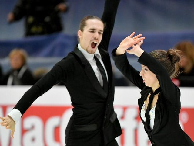 Die Schweizer Eistänzer Victoria Manni und Carlo Röthlisberger.